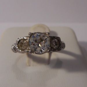 Jewelry - Vintage Sterling Rhinestone Engagement Ring